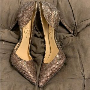 Size 8 Sparkle Copper Heels